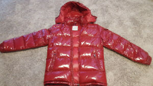 CHERRY RED MAYA MONCLER JACKET