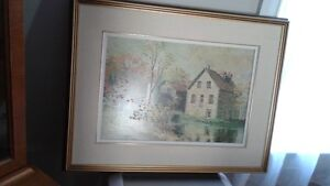 Beautiful Framed Oil Painting of Ruby's Mill