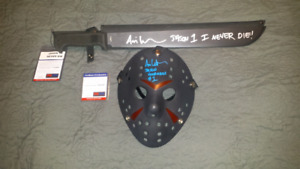 Jason Vorhees signed, inscribed & authenticated