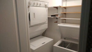 """whirlpool white 27"""" stack 2 in 1 washer electric dryer 425"""