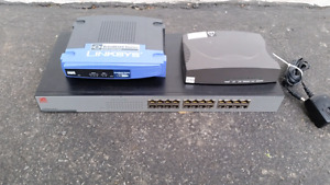 Encore 24 Port Switch Linksys Broadband Router Phone Ports VOIP