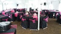 Black & Magenta Wedding Table Package - 12 tables/80 people $700