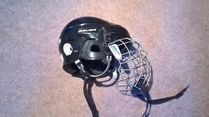 Bauer Hockey Helmet with face cage (size small)