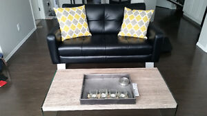 REDUCED Modern Furniture (Leather, Glass, Wood)