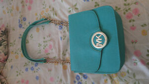 Micheal Kors purse- Green/Turquoise over the shoulder