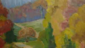 """Jean Chandler """"Autumn Huntsville"""" Oil on Board North Shore Greater Vancouver Area image 3"""