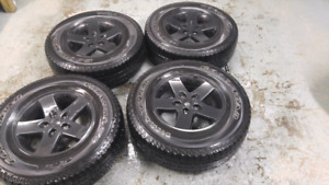 Goodyear 255 75 R17 tires with Jeep Wrangler mags
