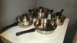 4 pc stainless steel cookware set