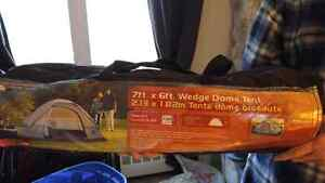 Tent and single air mattress with electric pump Belleville Belleville Area image 1