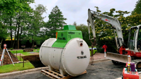 Tricel septic and sewage treatment tank's