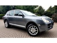 SUPERB GREY PORSCHE CAYENNE 3.2 V6 TIPTRONIC S SAT NAV ALLOYS FSH LEATHERS PX