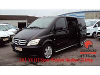2013 MERCEDES-BENZ VITO 3.0 V6 CDi EU5 224 bhp BLACK DIESEL auto Dualiner122CDI