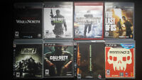 PS3 GAMES FOR TRADE OR SALE - PLAY STATION 3