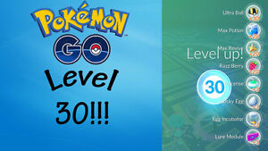 POKEMON GO LEVEL 30 ACCOUNT