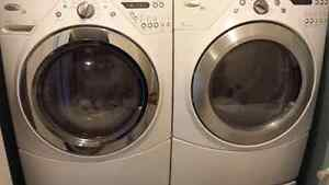 STACKABLE whirlpool washer and dryer in excellent condition