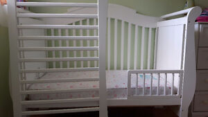 (2) Two Stork Craft Valentia 4-in-1 Fixed Side Convertible Crib
