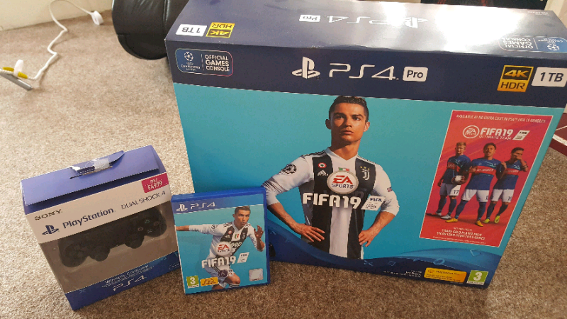 Ps4 pro + extra controller and fifa 19 | in Paisley, Renfrewshire | Gumtree