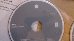 iMac Mac OS X Version 10.6.2 Install & Application Discs New .
