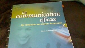 La communication efficace 2e edition