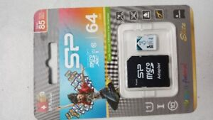 Brand New Silicon Power microSD 64gb + adapter