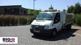 2012 FORD TRANSIT 350 TDCI 125 'ONE STOP' ALLOY DROPSIDE WITH TAIL LIFT DRW DROP