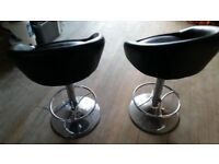 X2 Black & Chrome Kitchen / Bar Stools