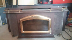Beautiful, antique, detailed antique fireplace