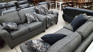 Charcoal Serta 3 Piece Couch. Love and Chair - Delivery Availab
