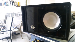 "10"" infinity subwoofer in ported box"