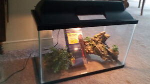 Fish Tank 10 Gal. with Light, Heater and Acc.