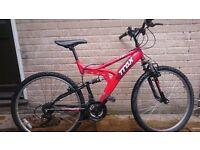 "FULL SUSPENSION ""TRAX"" /BIKE/BICYCLE"