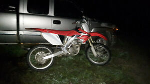 2005 CRF250 WITH YOKISHIMA EXHAUST JUST REBUILT LAST YEAR $2250