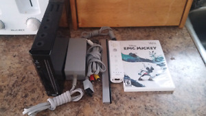 Black Nintendo Wii System With Wii Remote And Game!