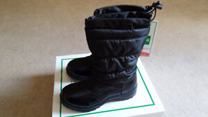Cougar Cadance Black Girl Waterproof Winter Snow Boots Size 4