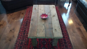 Reclaimed and salvaged solid barn wood coffee table Kitchener / Waterloo Kitchener Area image 4
