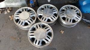 """4 mags 15"""" chevrolet 5x114.3 , possibilité de pneus"""