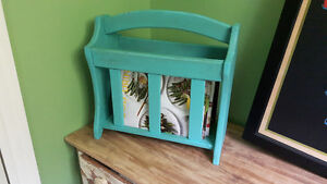 Refinished magazine rack