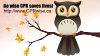 BLS renewal, CPR, AED Heart & Stroke Course Fri Sept 22nd @ 1pm