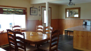 Canadian  Table, chairs and side board