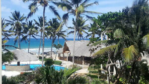 BEACHFRONT CABARETE! Affordable Nice Safe Snowbirds /Expats Bldg