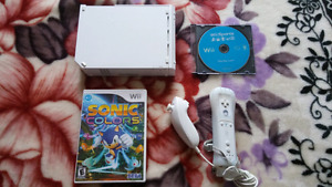 Nintendo Wii with (Sonic Colors, Wii Sports) For Sale!