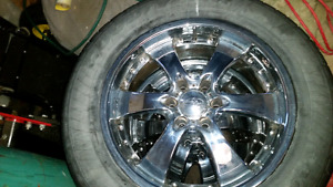 "20"" Chevy truck rims and rubber 1200 obo"