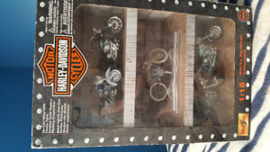 Harley Davidson book and replica bikes perfect for the collector