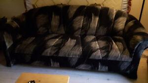 sofa et fauteuil  en tissus