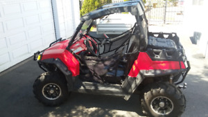 2011 polaris RZR 800 side by side, with utility trailer
