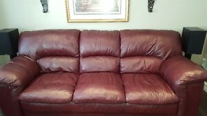 100% Soft Leather Sofa set will sell seperate
