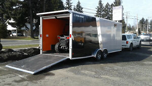 2016 SNOWMOBILE TRAILER - POLARIS ALCOM 24ft ENCLOSED ALUMINUM