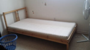 Ikea twin bed for Youth with foam mattress