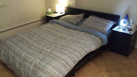 Queen Bed + Mattress For Sale