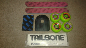 New old stock 1980s skateboard powell wheels ect